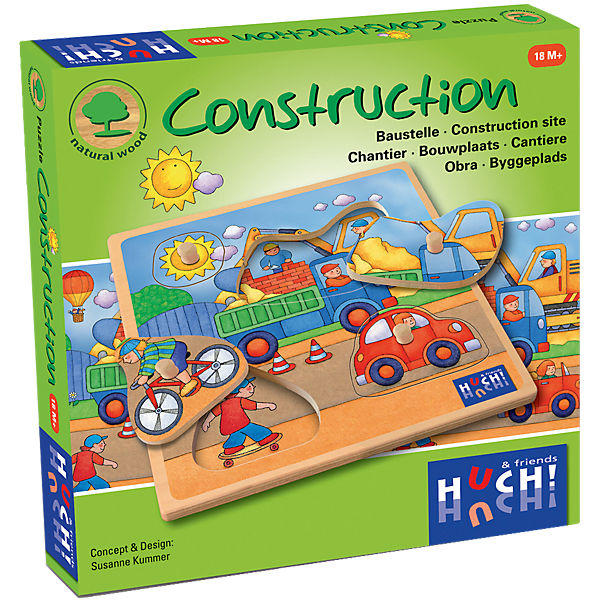 Holzpuzzle 4 Teil Construction