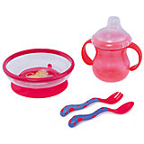 Набор посуды, Nuby, красный