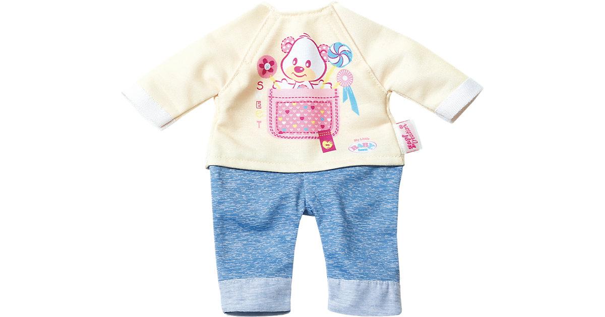my little BABY born® Kleidung Overall gelb/blau