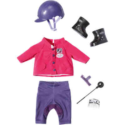 BABY born® Puppenkleidung Deluxe Reit-Outfit Pony Farm, 43 cm