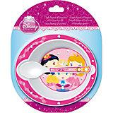 Набор посуды для СВЧ (миска + ложка), Принцессы