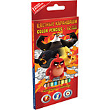 Цветные карандаши, 12 шт, Angry Birds