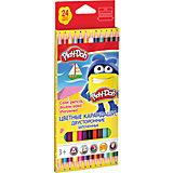 Двусторонние цветные карандаши, 12 шт, 24 цвета, Play-Doh