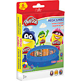 Цветные карандаши MEGA JUMBO 6 шт, Play-Doh