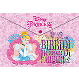 Папка-конверт А4 с застежкой, Принцессы Дисней