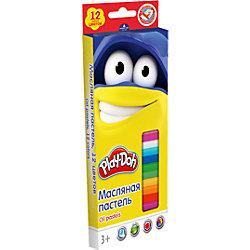 Масляная пастель (12 цветов) + 2 раскраски, Play-Doh