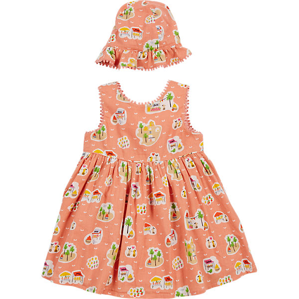 Baby Set Kleid + Hut