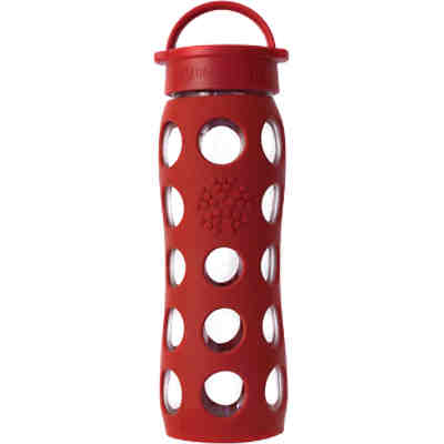 Lifefactory Trinkflasche Glas  red, 650 ml