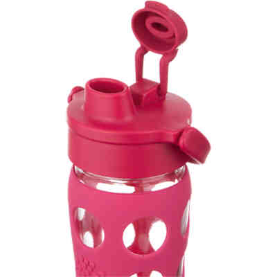 Lifefactory Trinkflasche Glas  raspberry Flip Top Cap, 650 ml