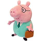 Папа Свин с кейсом, 30 см, Свинка Пеппы
