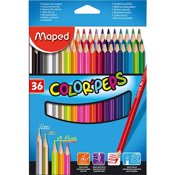 Набор цветных карандашей COLORPEPS, 36 цв.