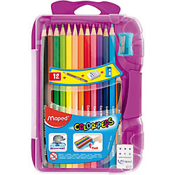 Набор цветных карандашей в пенале КАР COLORPEPS, 12 цв.