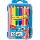 Набор цветных карандашей в пенале КАР COLORPEPS, 15 цв.