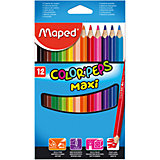Набор цветных карандашей COLORPEPS MAXI, 12 цв.