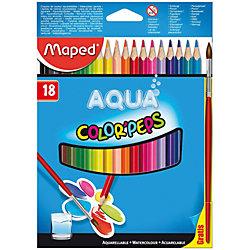 Набор цветных карандашей АКВА COLORPEPS, 18 цв.