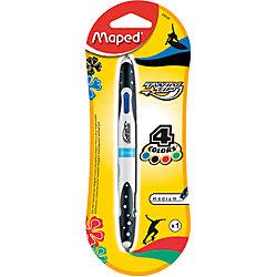 Шариковая ручка, 1 мм, 4 цв.