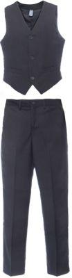 Комплект: жилет и брюки для мальчика S'cool - серый меланж