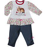 Комплект: футболка с длинным рукавом и леггинсы для девочки Soni kids