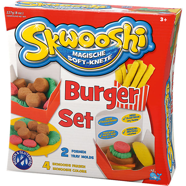 Skwooshi Soft-Knete Burger Set