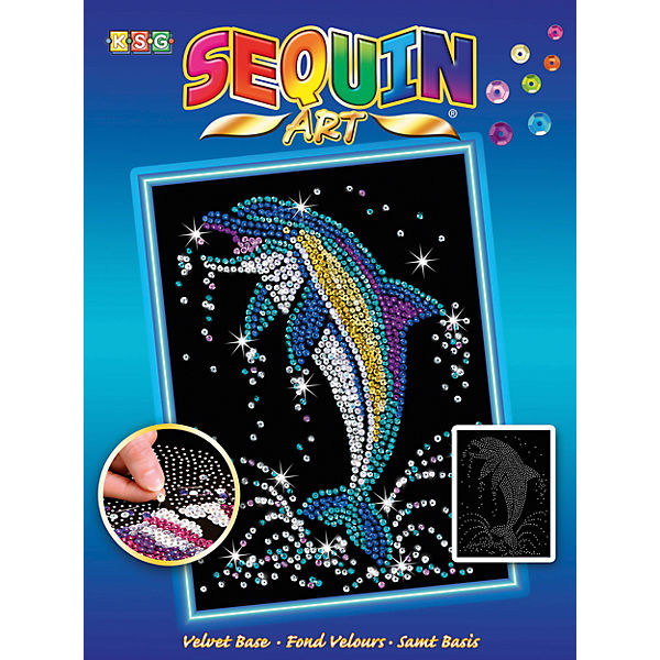 Sequin Art Blue - Delfin