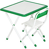 Набор детской складной мебели, бело-зеленый