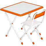Набор детской складной мебели, бело-оранжевый, Дэми