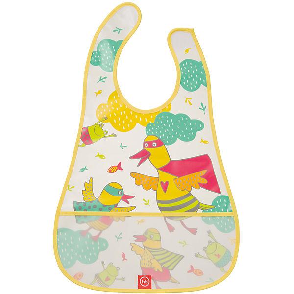 Нагрудник на липучке водонепроницаемый, Happy Baby, желтый