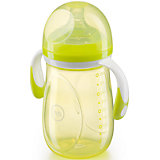 Бутылочка для кормления  c антиколиковой соской, 300 мл, Happy Baby, лайм