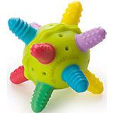 Прорезыватель-погремушка силиконовая, с 4 мес., Happy Baby