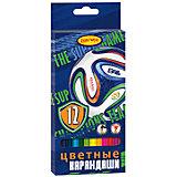 """Цветные карандаши """"Футбол"""", 12 цв."""