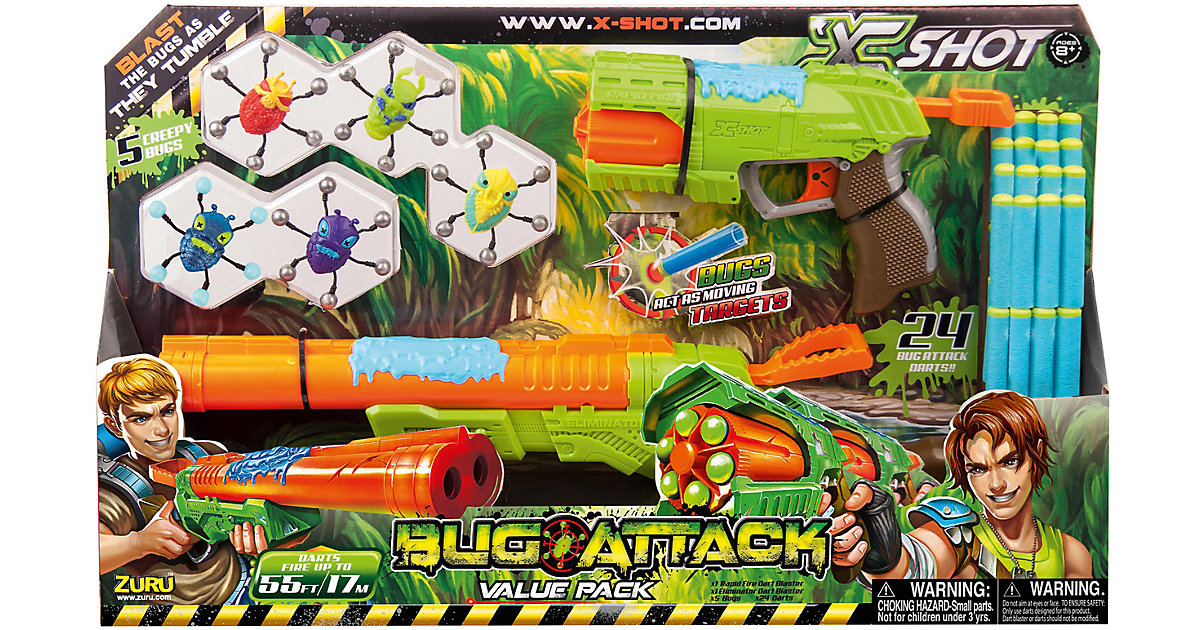 Zuru X-Shot Bug Attack - Rapid & Eliminator