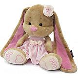 Зайка Лин в розовом платье, 25 см, MAXITOYS