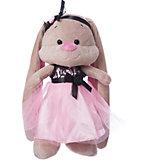Зайка Лин в розово-черном платьице, 25 см, MAXITOYS