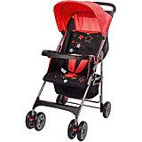 Прогулочная коляска C5100 (WPRX), Happy Dino, красный/черный