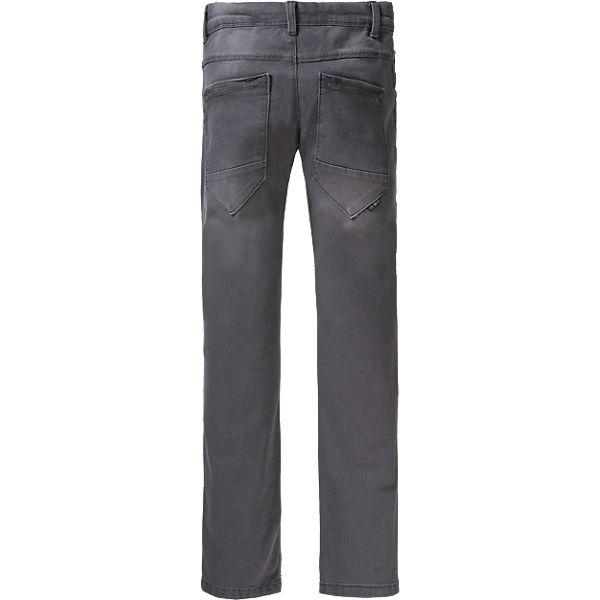 jeans nitted slim fit jungen bundweite slim grau name. Black Bedroom Furniture Sets. Home Design Ideas