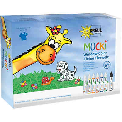 Mucki Window Color 7er Set Kleine Tierwelt