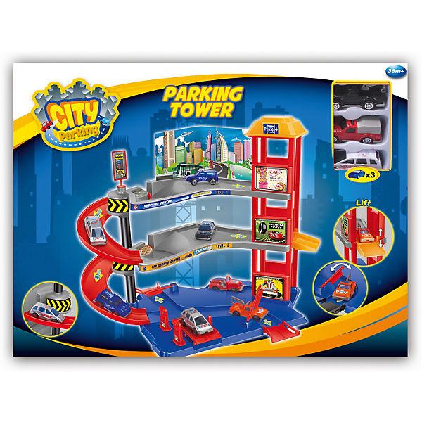 "Набор ""Парковочная башня с 3 машинками"", Dave Toy"