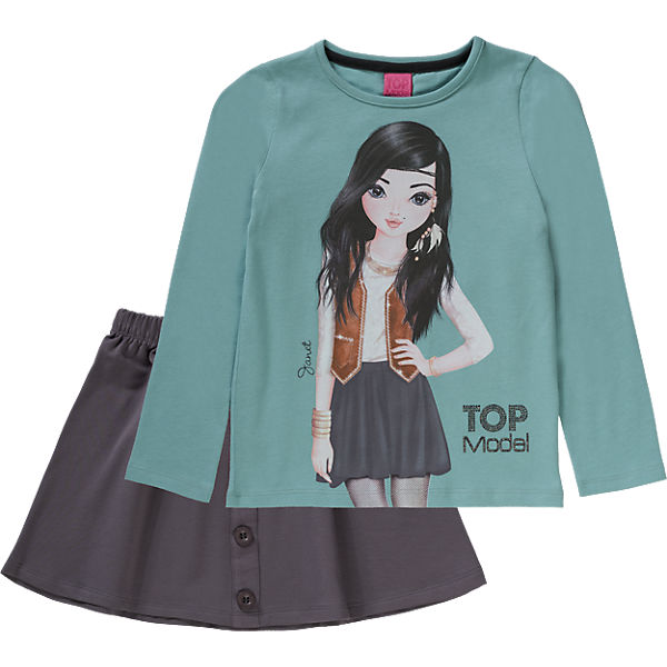 TOPModel Kinder Set Langarmshirt & Rock