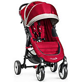 Прогулочная коляска City Mini Single 4Wheel, Baby Jogger, красно-серый