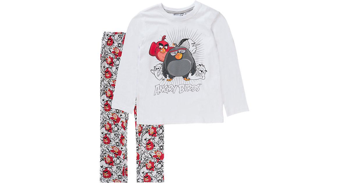 ANGRY BIRDS Schlafanzug Gr. 128 Jungen Kinder