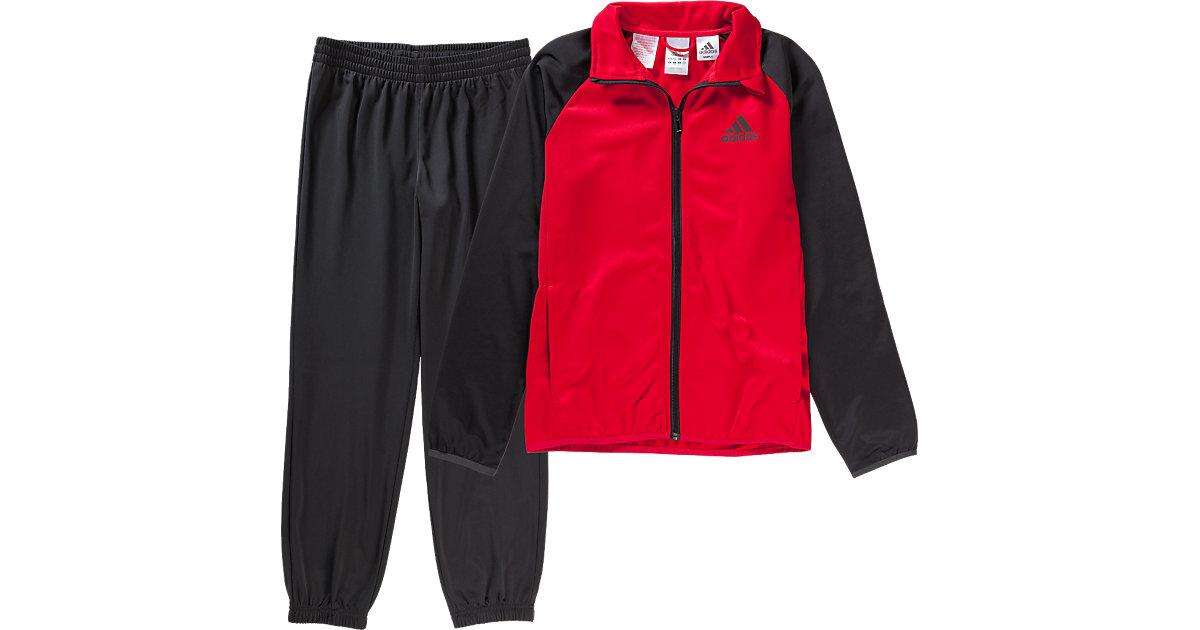 Trainingsanzug rot/schwarz Gr. 176 Jungen Kinder