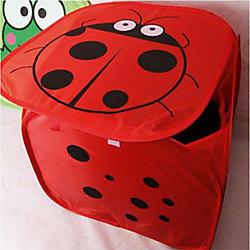 """Корзина для игрушек """"Божья коровка"""", красная"""