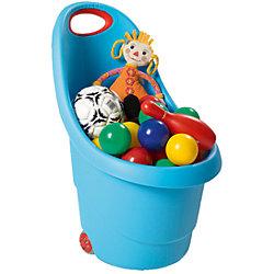 Корзина для игрушек на колесах, зеленая