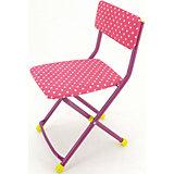 """Складной стул СТУ3 """"Горошек"""", Ника, розовый"""
