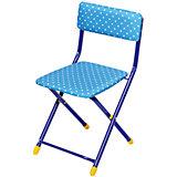 """Складной стул СТУ3 """"Горошек"""", Ника, синий"""