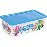 """Коробка для мелочей """"Фиксики"""", бело-голубая, 5,5 литров"""