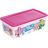 """Коробка для мелочей """"Фиксики"""", бело-розовая, 5,5 литров"""