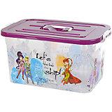 """Ящик для игрушек """"Принцессы"""", 15 л, бордовый"""