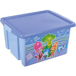 """Ящик для игрушек """"Фиксики"""", 30 л, голубой"""