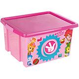 """Ящик для игрушек """"Фиксики"""", 30 л, розовый"""